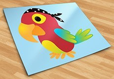 Stickers pour enfants: perroquet pirate 5