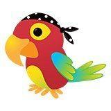 Stickers pour enfants: perroquet pirate 6