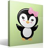 Stickers pour enfants: Penguin arc rose 4