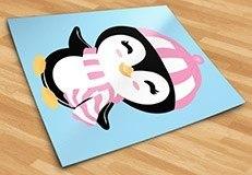 Stickers pour enfants: Penguin chapeau de plage 5
