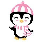 Stickers pour enfants: Penguin chapeau de plage 6