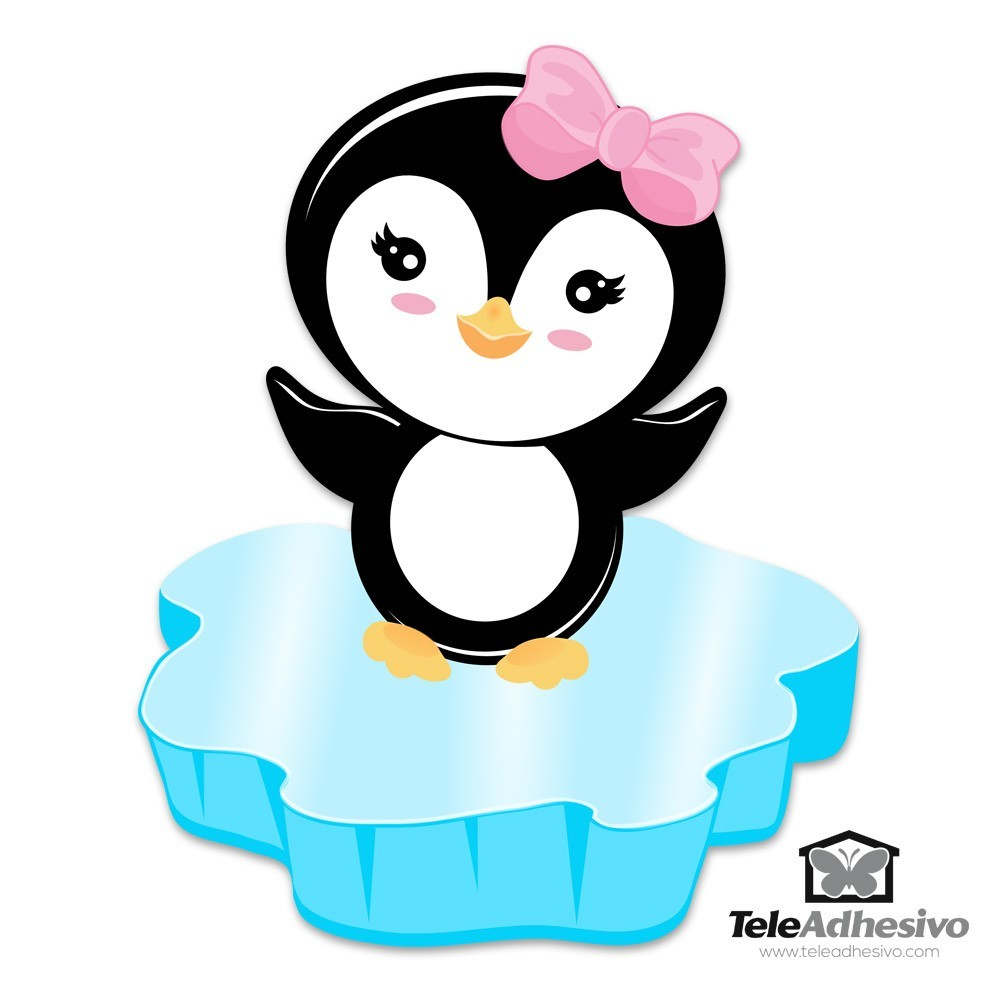 Stickers pour enfants: Penguin glace