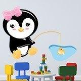 Stickers pour enfants: Penguin pêche 3