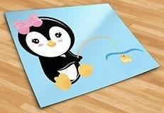 Stickers pour enfants: Penguin pêche 5