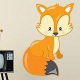 Stickers pour enfants: forêt renard 3
