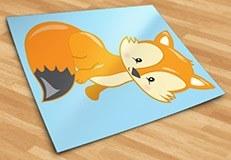 Stickers pour enfants: forêt renard 5