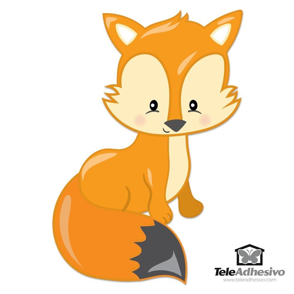 Stickers pour enfants: forêt renard