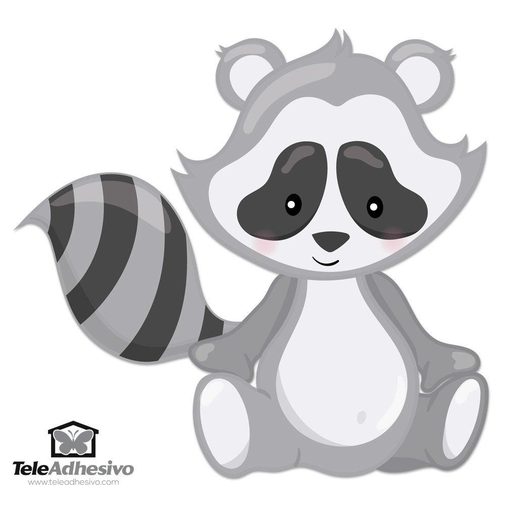 Stickers pour enfants: la forêt de Raccoon