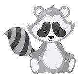 Stickers pour enfants: la forêt de Raccoon 6