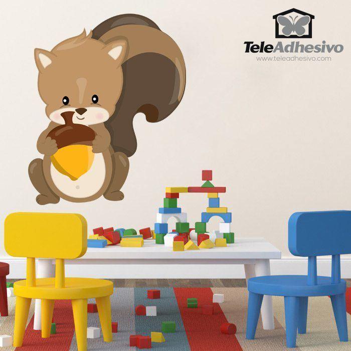 Stickers pour enfants: écureuil forêt