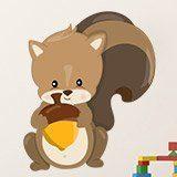 Stickers pour enfants: écureuil forêt 3