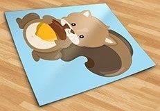 Stickers pour enfants: écureuil forêt 5