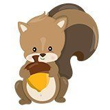 Stickers pour enfants: écureuil forêt 6