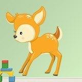 Stickers pour enfants: forêt cerf 3
