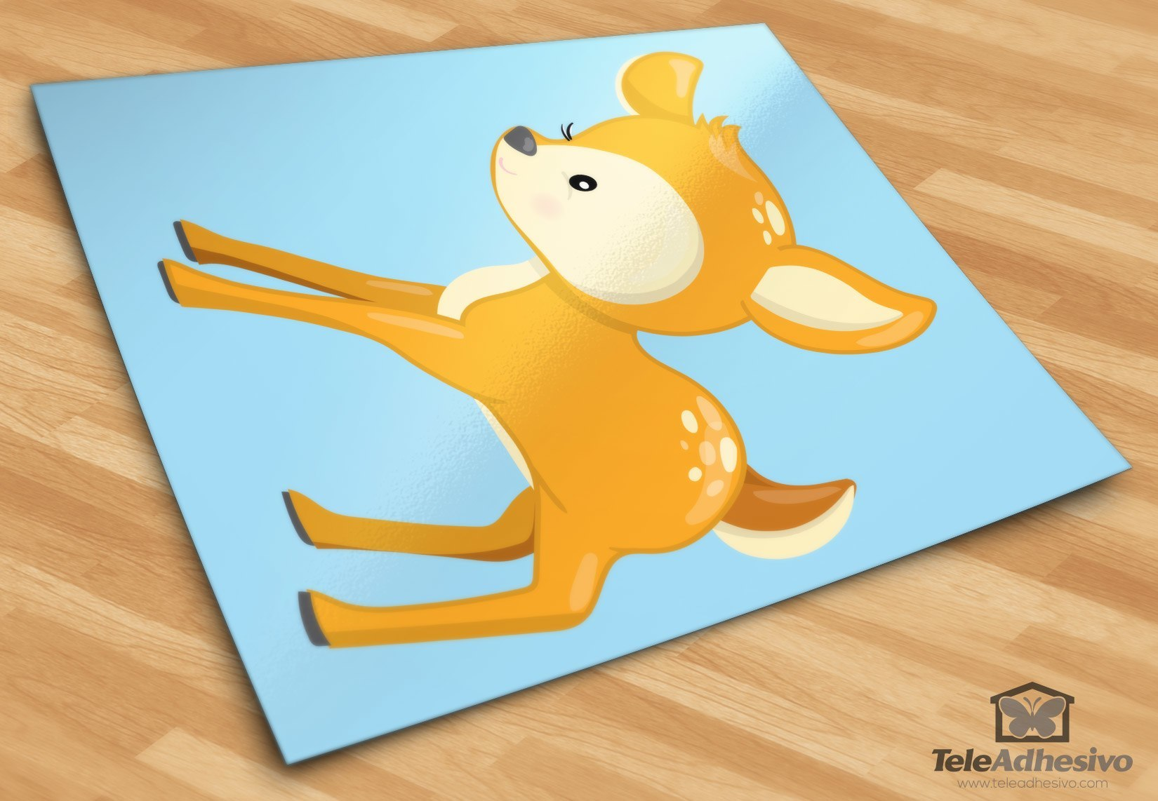 Stickers pour enfants: forêt cerf