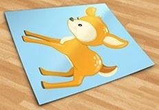 Stickers pour enfants: forêt cerf 5