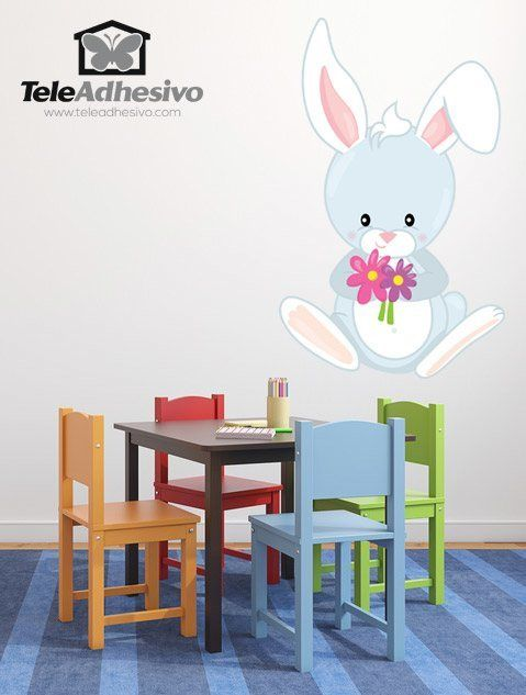 Stickers pour enfants: forêt lapin