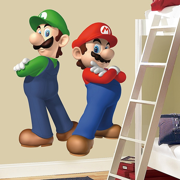 Sticker Enfants Muraux Super Mario Et Luigi Webstickersmuraux Com