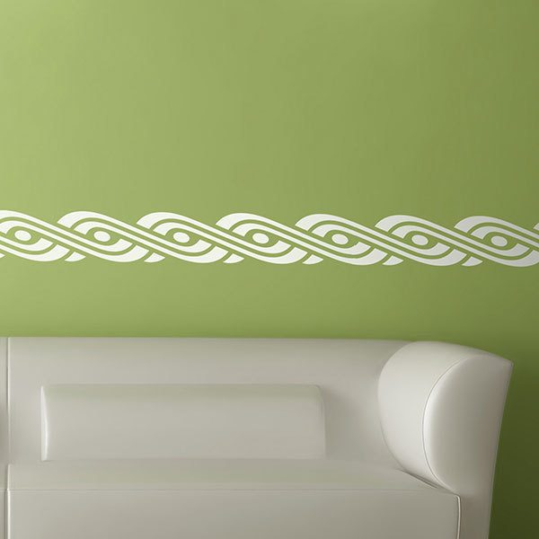 Stickers muraux: Frise murale Oval spiral