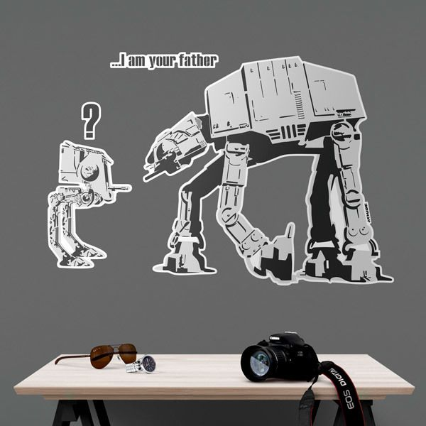 Stickers muraux: Banksy, Star Wars