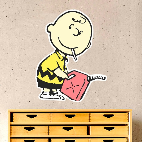 Stickers muraux: Banksy, Charlie Brown Essence