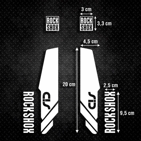 Autocollants: Kit 6X Fourches Vélo VTT Rock Shox