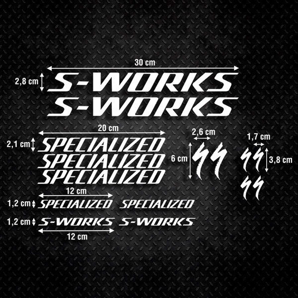 Autocollants: Kit Vélo Specialized S-Works