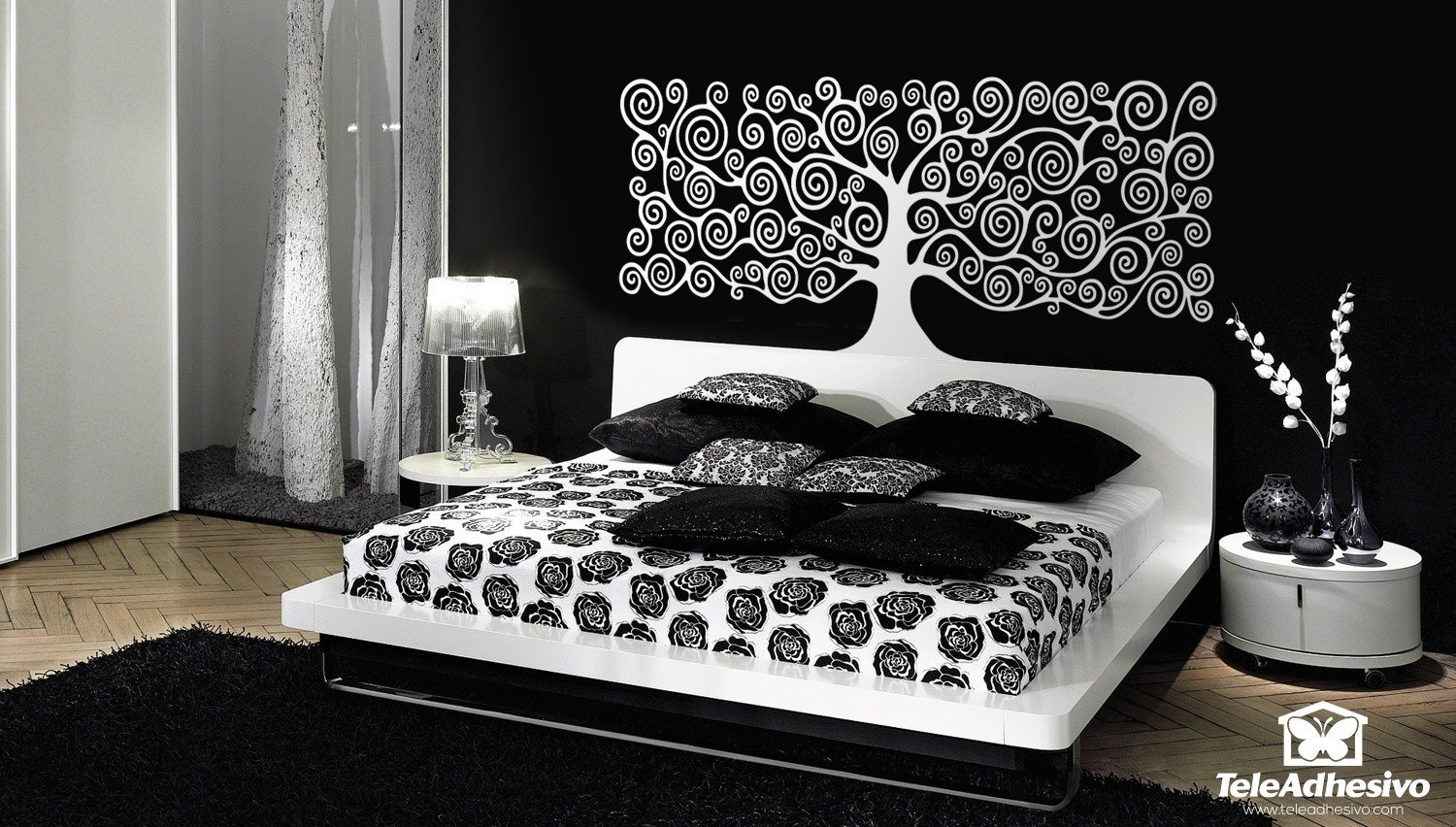 sticker mural arbre de vie de klimt. Black Bedroom Furniture Sets. Home Design Ideas