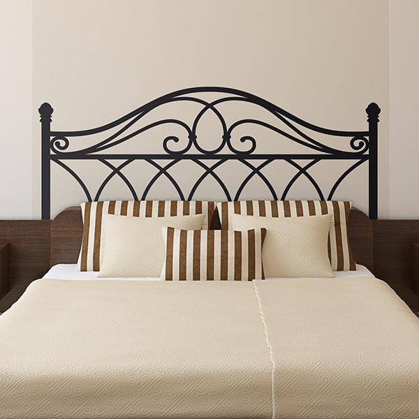 stickers muraux t te de lit. Black Bedroom Furniture Sets. Home Design Ideas