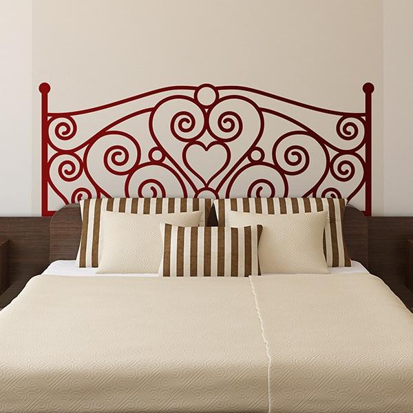 Sticker mural t te de lit de l 39 amour - Tete de lit murale ...
