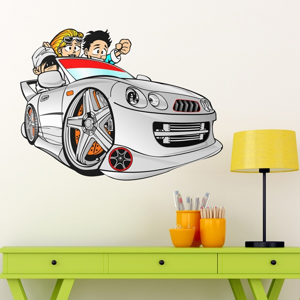 Stickers pour enfants: Cartoon Car