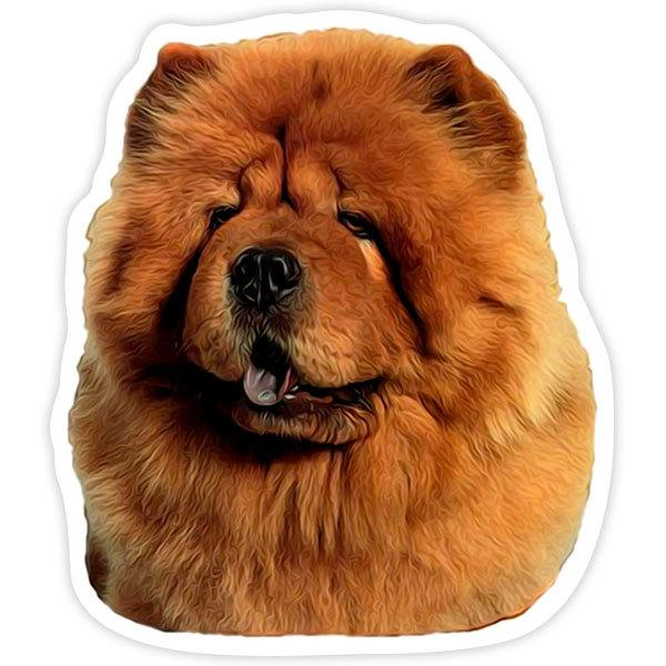 Autocollants: Red Chow Chow