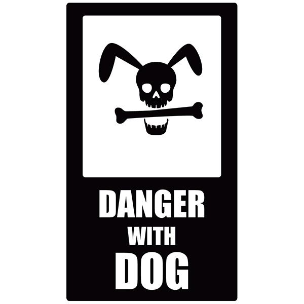 Stickers muraux: Danger Dog