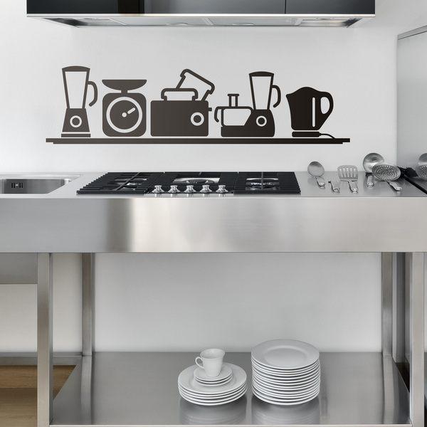 sticker muraux pour cuisine petits appareils lectrom nagers. Black Bedroom Furniture Sets. Home Design Ideas