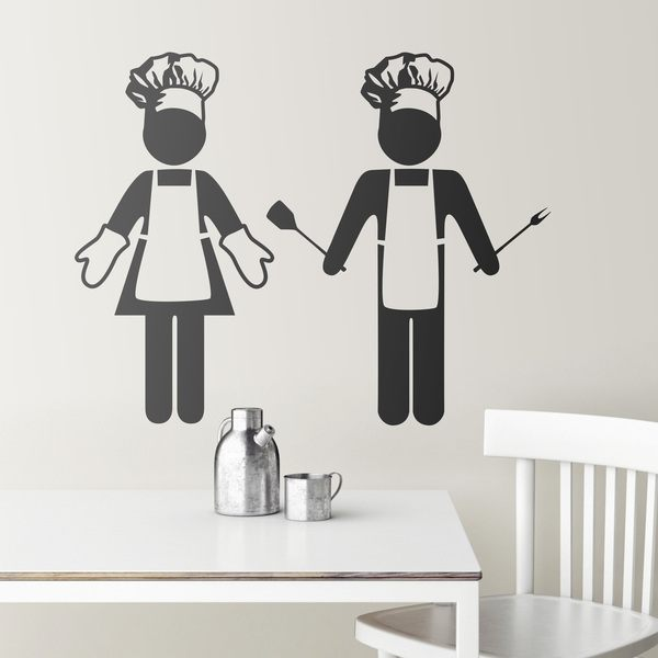 Sticker muraux pour cuisine chefs for Stickers cucina