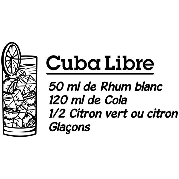 Stickers muraux: Cocktail Cuba Libre - français
