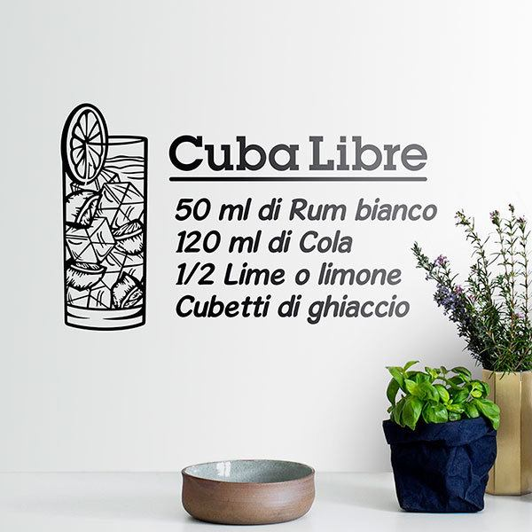 Stickers muraux: Cocktail Cuba Libre - italien