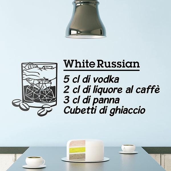 Stickers muraux: Cocktail Russe Blanc - italien