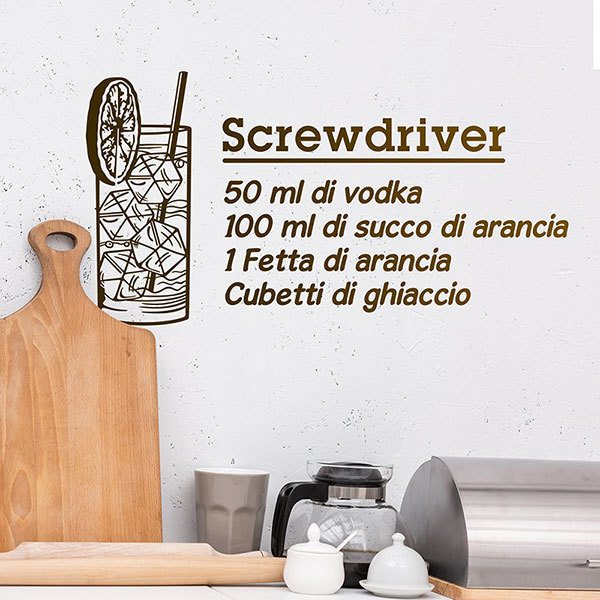Stickers muraux: Cocktail Screwdriver - italien