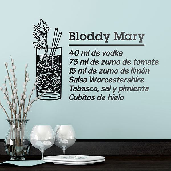 Stickers muraux: Cocktail Bloddy Mary - spagnol