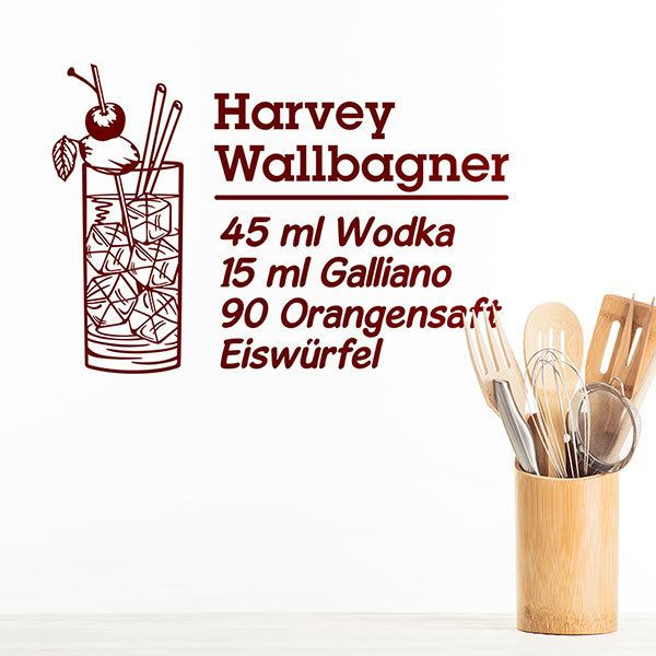 Stickers muraux: Cocktail Harvey Wallbagner - allemand 0