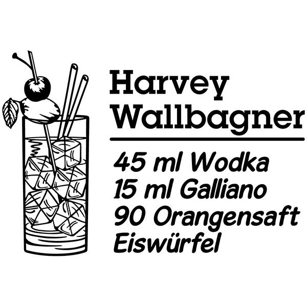 Stickers muraux: Cocktail Harvey Wallbagner - allemand