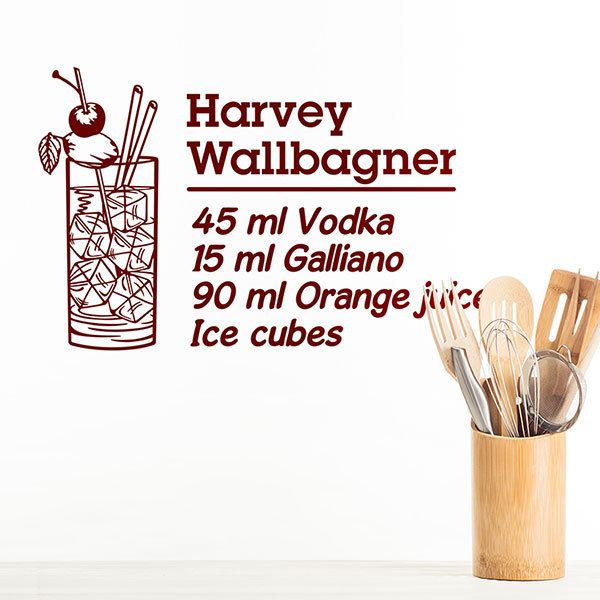Stickers muraux: Cocktail Harvey Wallbagner - anglais