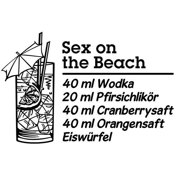 Stickers muraux: Cocktail Sex on the Beach - allemand