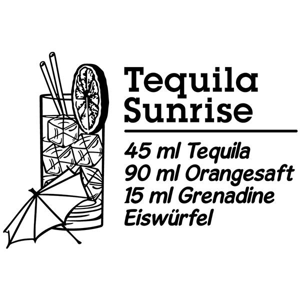 Stickers muraux: Cocktail Tequila Sunrise - allemand