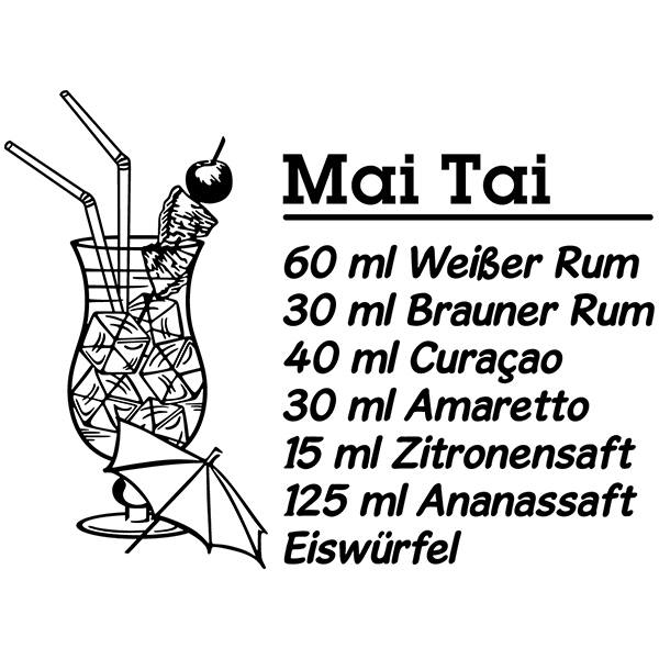 Stickers muraux: Cocktail Mai Tai - allemand