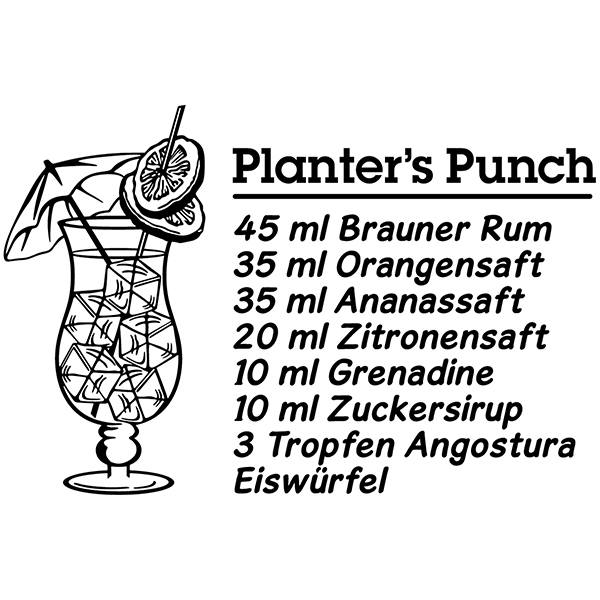 Stickers muraux: Cocktail Planter's Punch - allemand