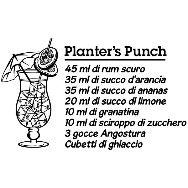 Stickers muraux: Cocktail Planter's Punch - italien