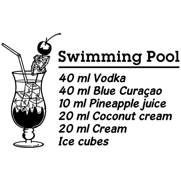 Stickers muraux: Cocktail Swimming Pool - anglais