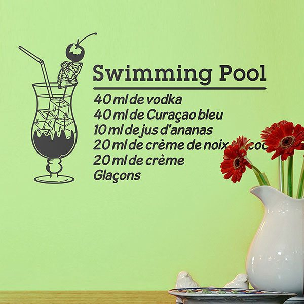 Stickers muraux: Cocktail Swimming Pool - français